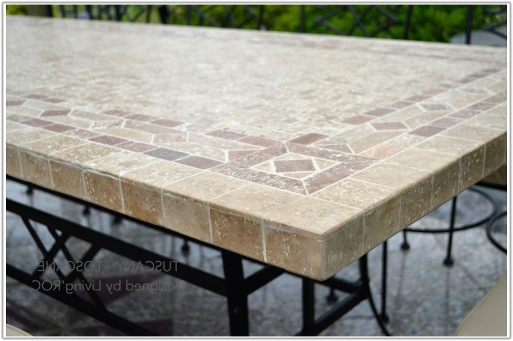 Outdoor Table With Tile Top