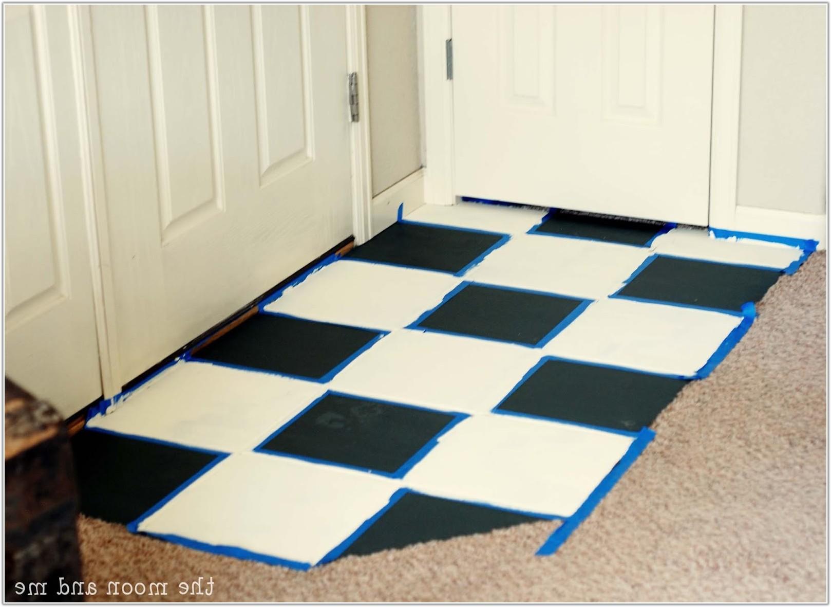 Paint Old Ceramic Floor Tiles