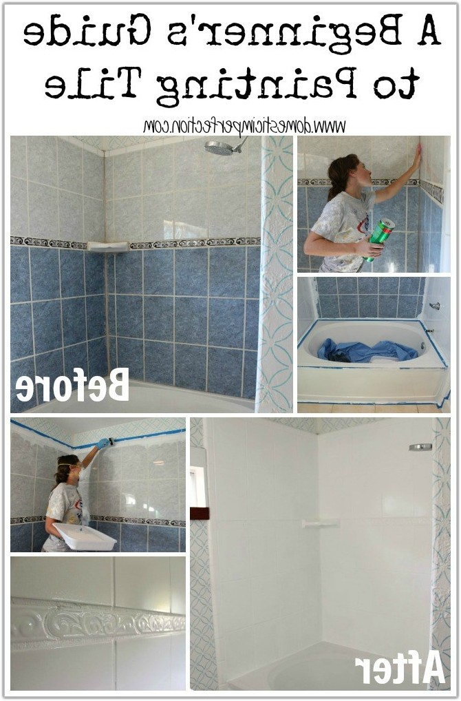 Painting Ceramic Tile Bathroom Walls