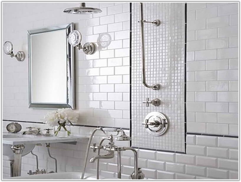 Plain White Bathroom Wall Tiles