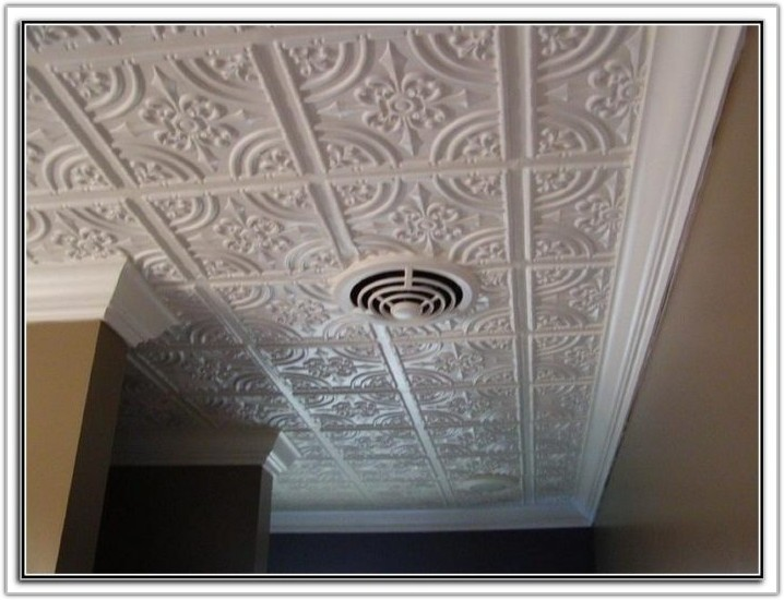 Plastic Tin Ceiling Tiles Home Depot