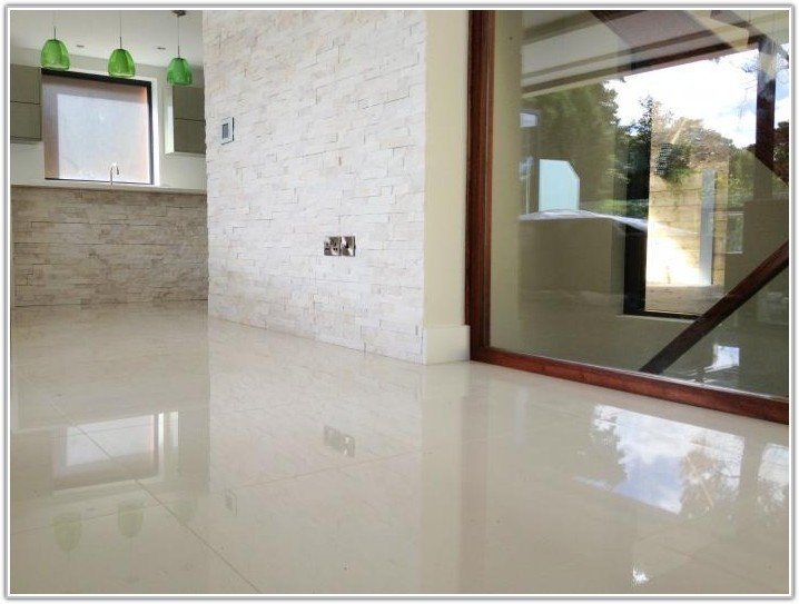 Polished Porcelain Floor Tiles Kitchen