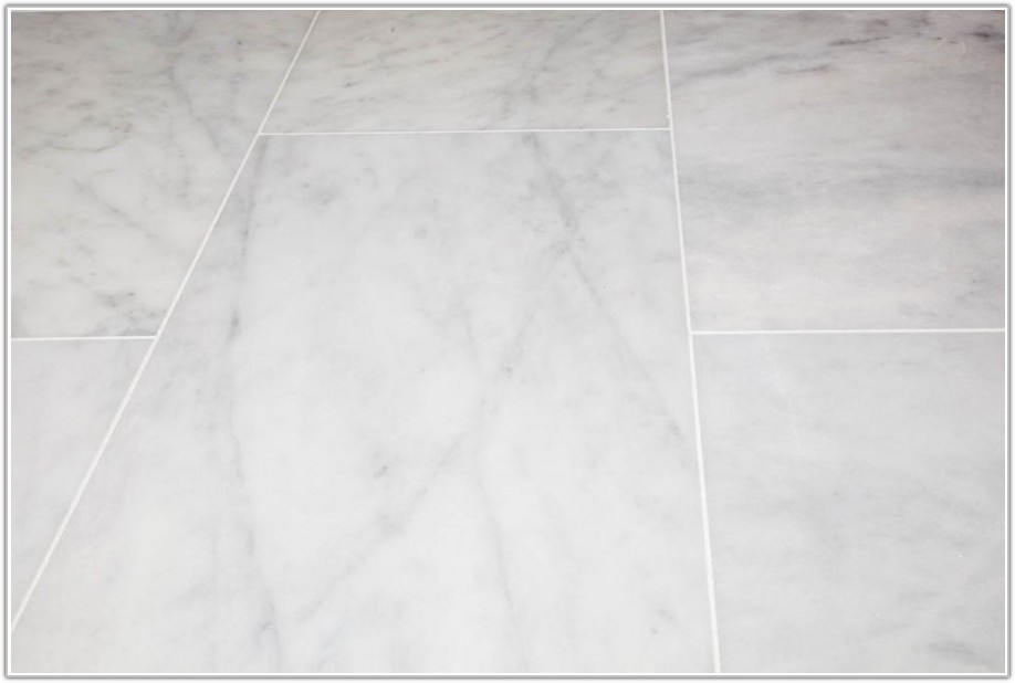 Polished White Marble Floor Tiles