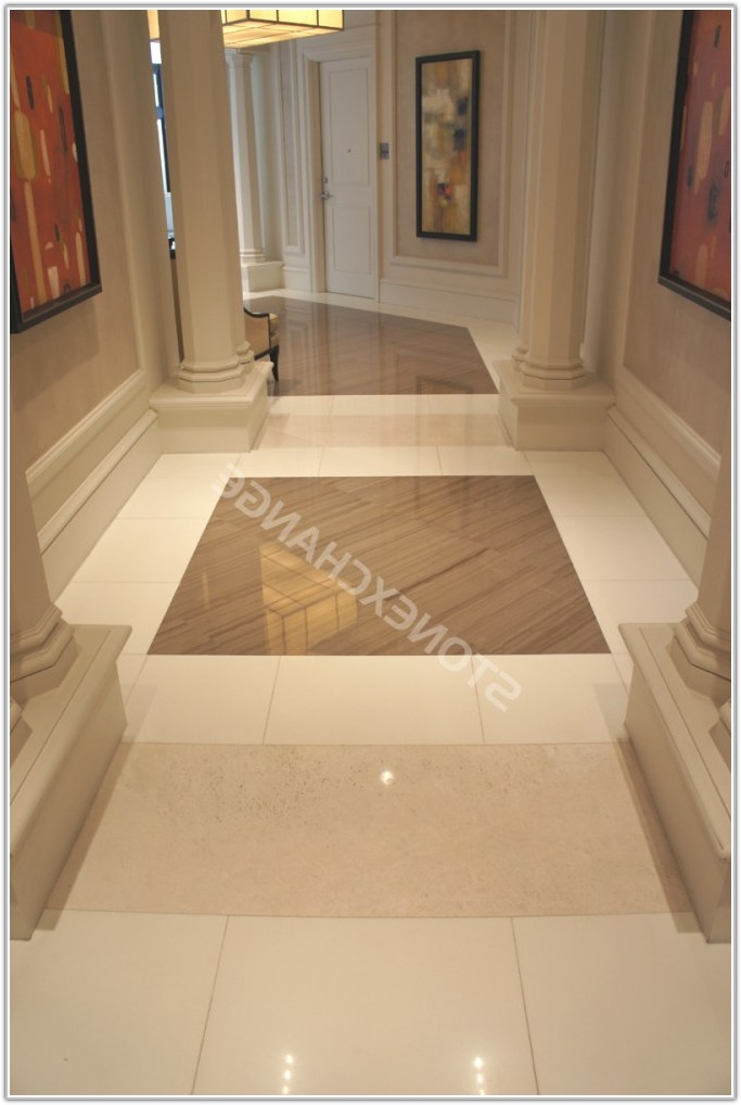 Pure White Marble Floor Tiles