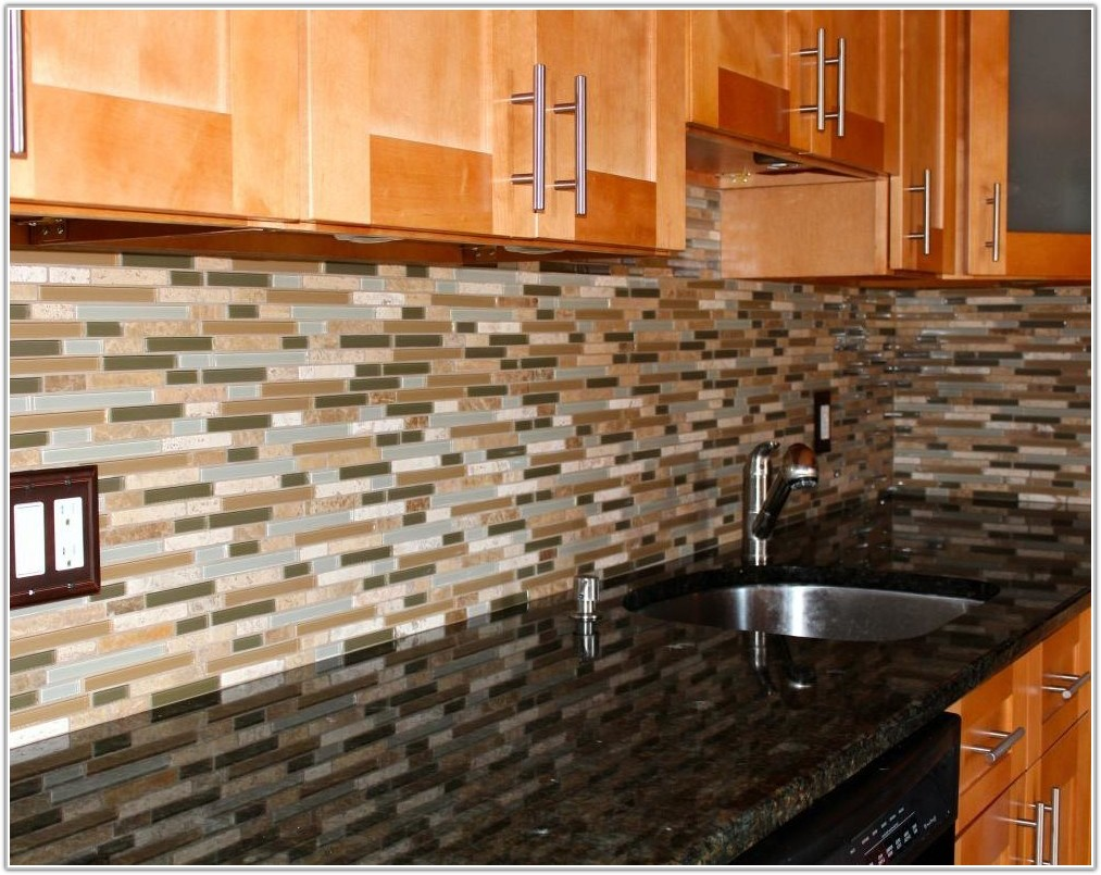 Recycled Glass Tiles Kitchen Backsplash