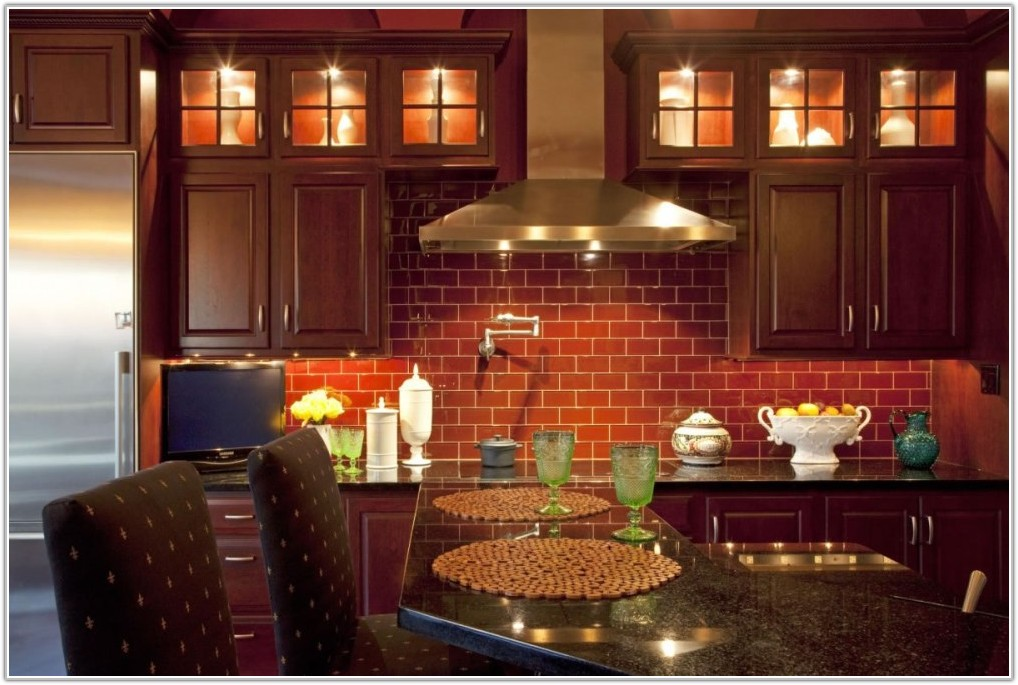 Red Brick Kitchen Wall Tiles