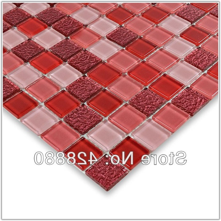 Red Glass Mosaic Tile Sheets
