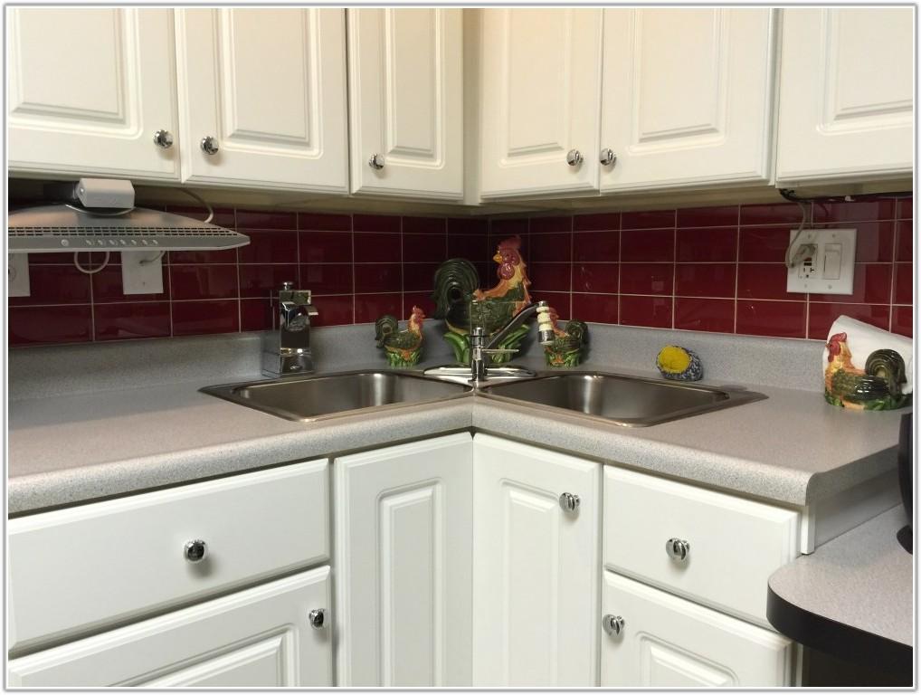 Red Subway Tile Kitchen Backsplash