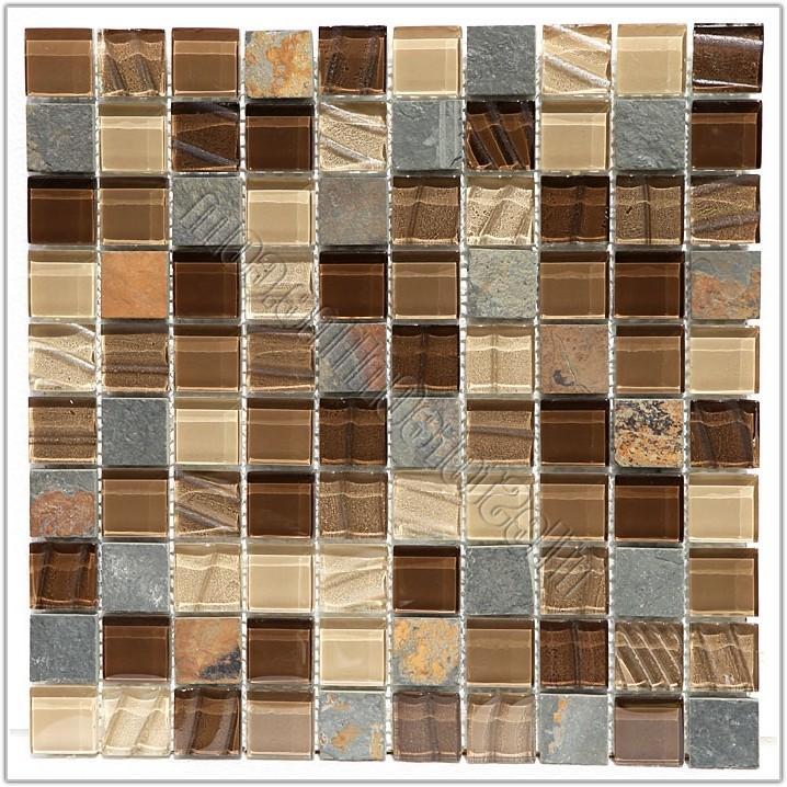Slate And Glass Tile Mosaic