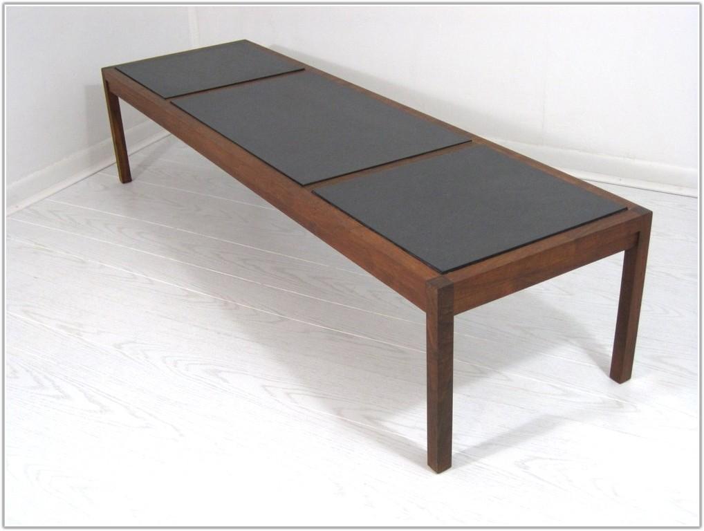 Slate Tile Top Coffee Table