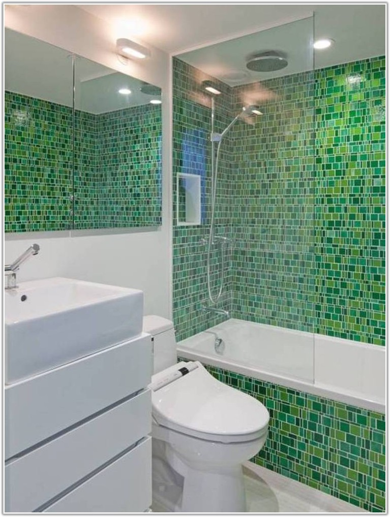 Small Bathroom Glass Tile Ideas