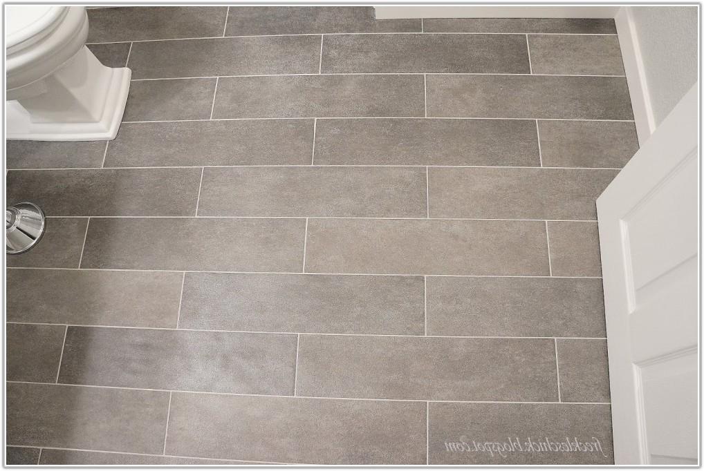 Small Bathroom Large Floor Tile