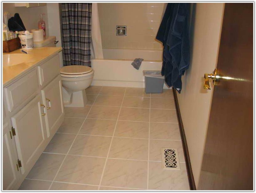 Small Bathroom Large Floor Tiles