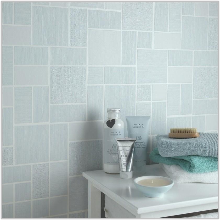 Tile On A Roll Bathroom Wallpaper