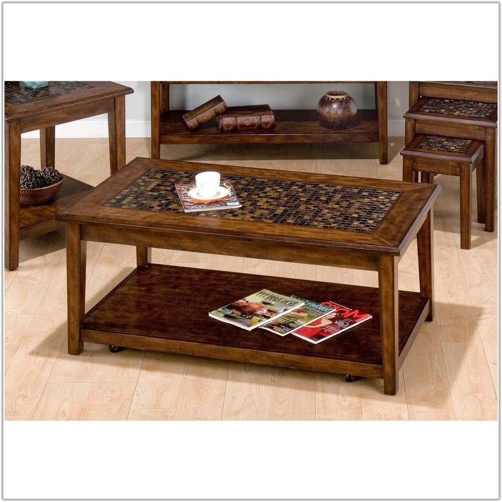 Tile Top Coffee Table Set