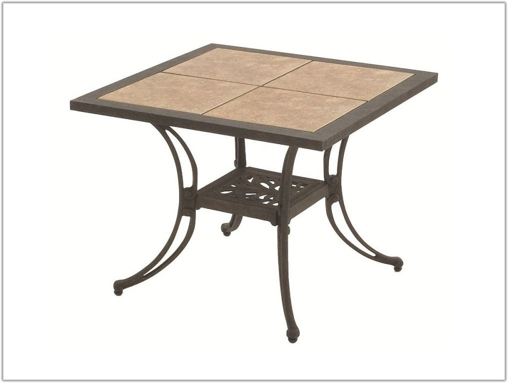 Tile Top Dining Table Outdoor
