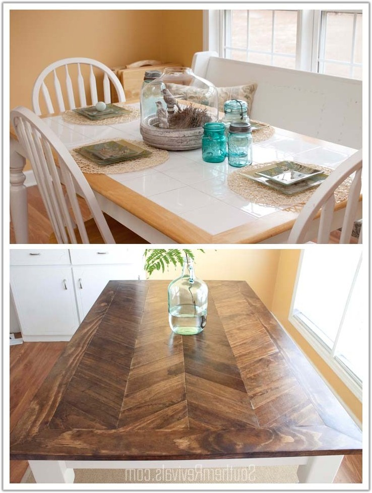 Tile Top Dining Table Redo