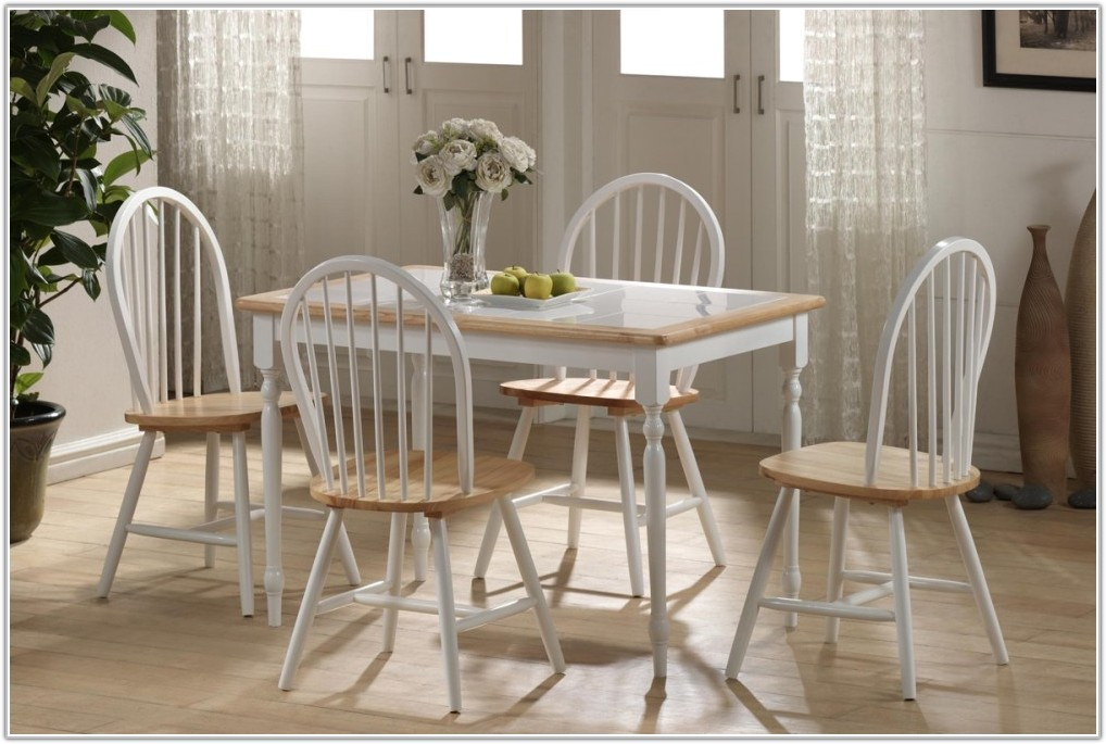 Tile Top Dining Table White Natural