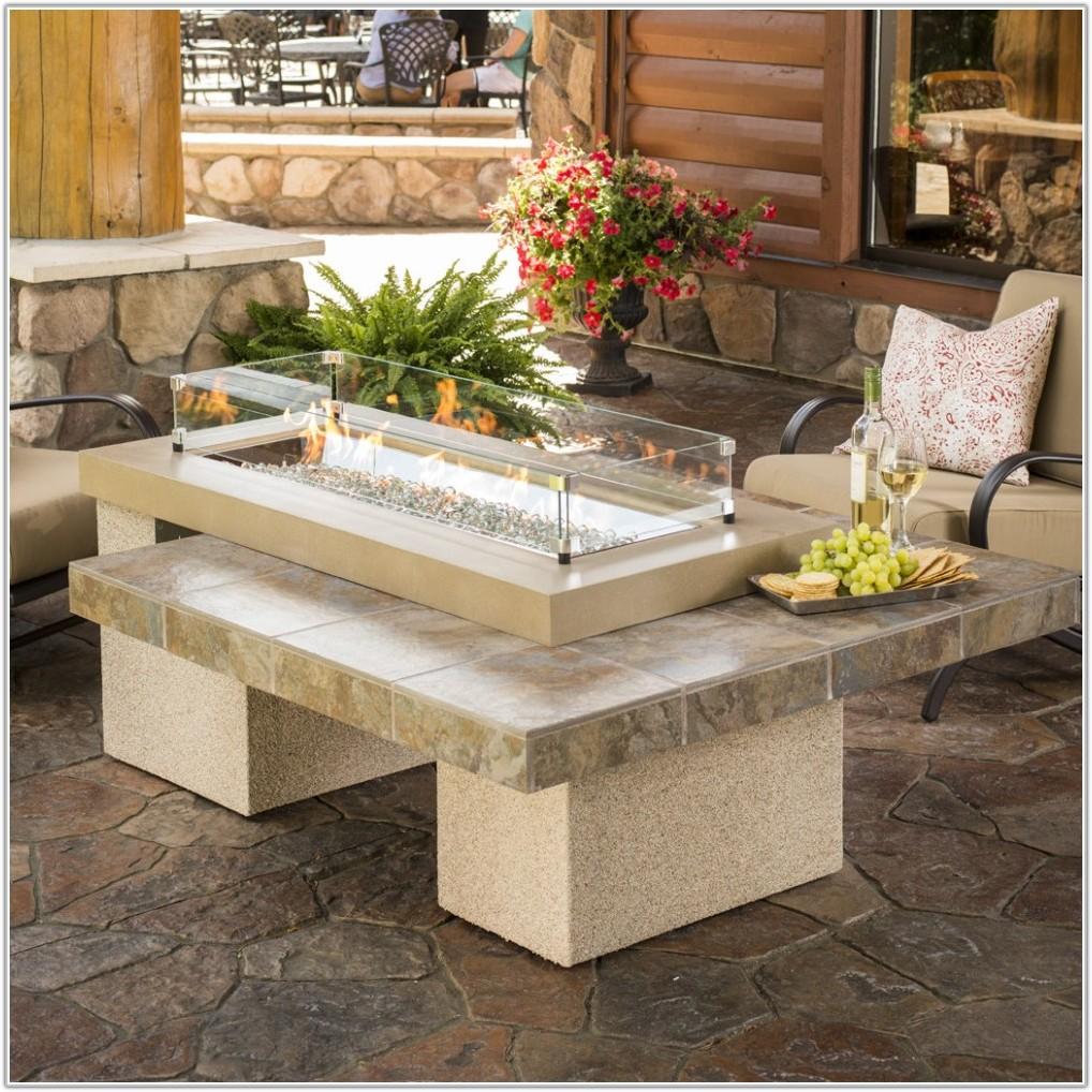 Tile Top Fire Pit Table