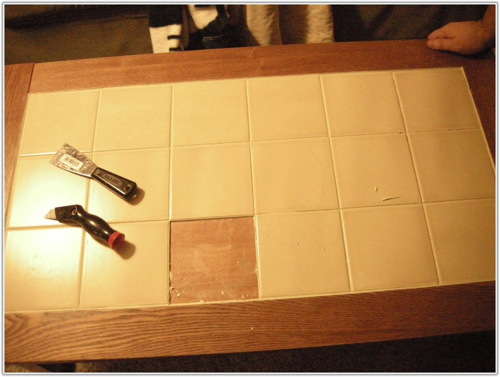 Tile Top Kitchen Table Redo