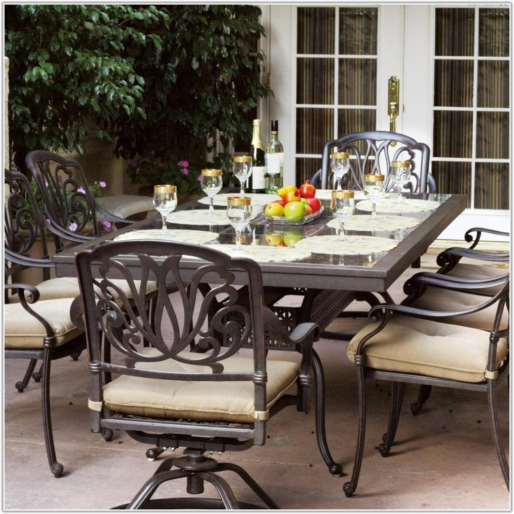 Tile Top Patio Table Set