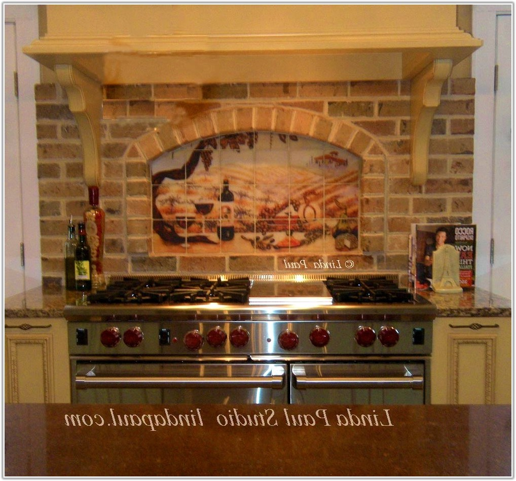 Tuscan Tile Murals Kitchen Backsplash