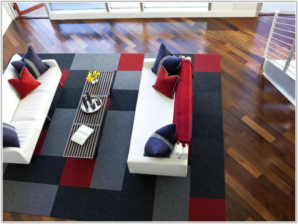 Using Carpet Tiles Living Room