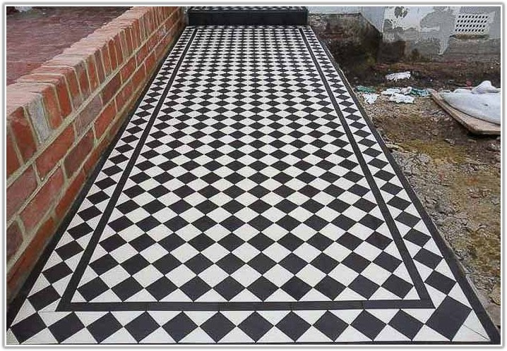 Victorian Black And White Porch Tiles