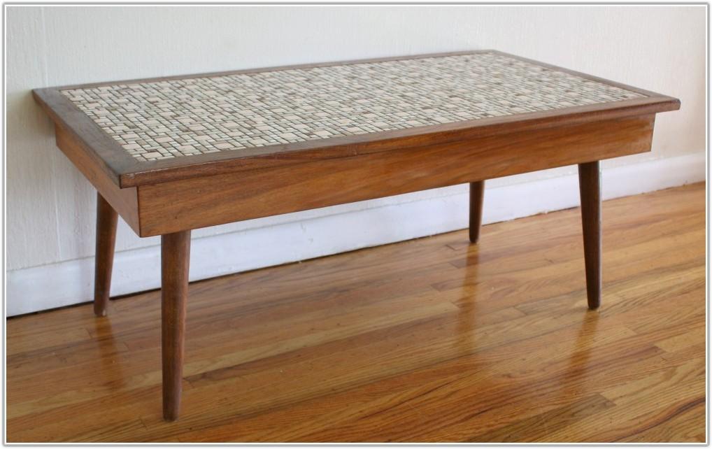 Vintage Tile Top Coffee Table