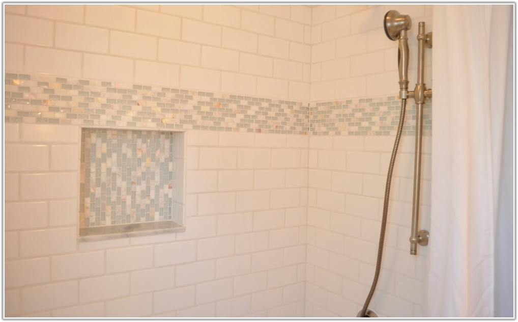 White Ceramic Subway Tile Bathroom