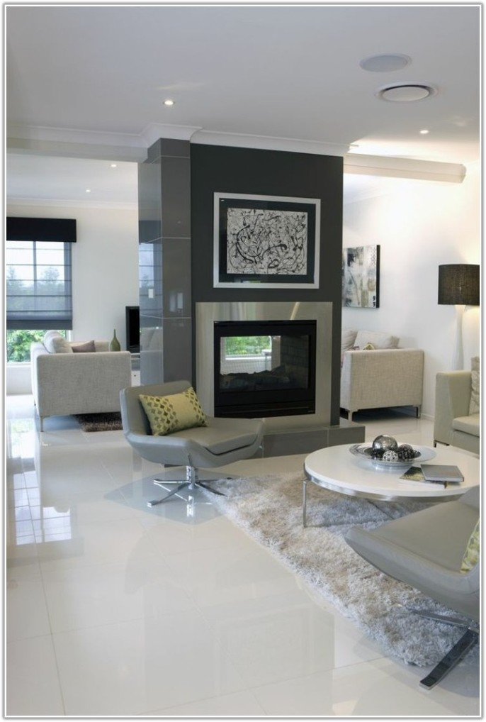 White Floor Tiles For Living Room