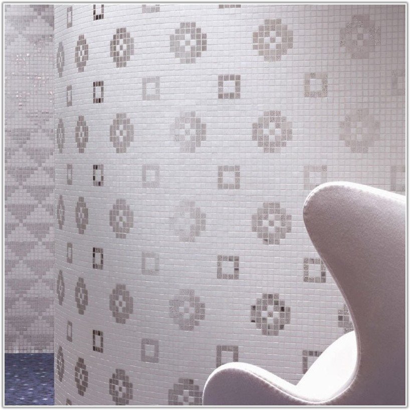 White Glass Mosaic Wall Tiles