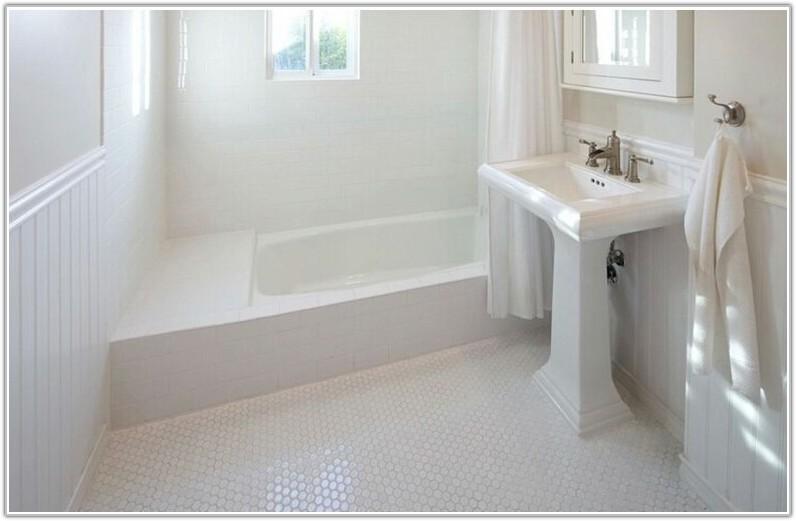 White Hexagon Porcelain Floor Tile