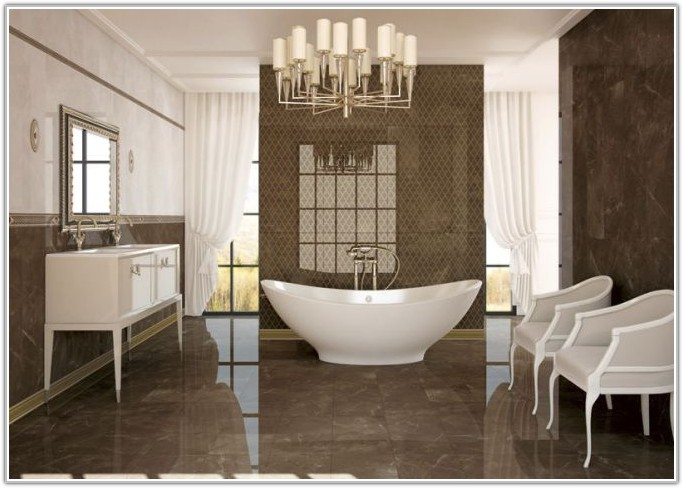 White High Gloss Bathroom Wall Tiles