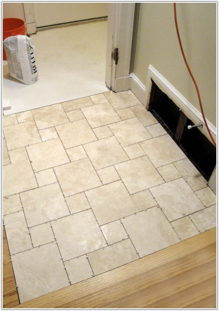 White High Gloss Kitchen Floor Tiles