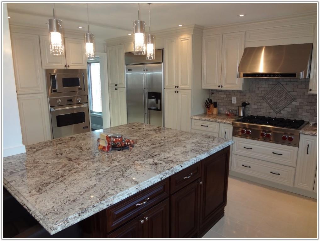 White Kitchen Cabinets Dark Tile Floor