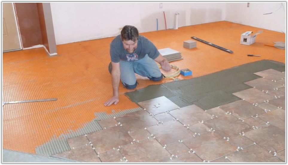 White Laminate Flooring Tile Effect