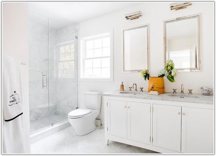 White Marble Bathroom Floor Tiles