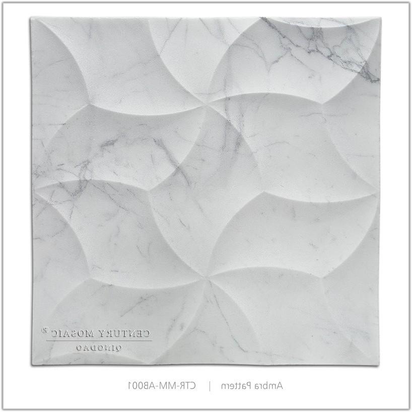 White Marble Effect Bathroom Tiles