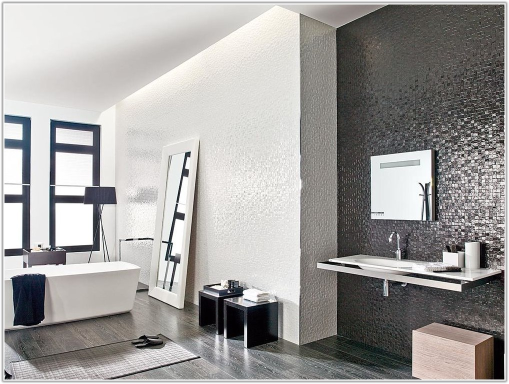 White Mosaic Effect Wall Tiles