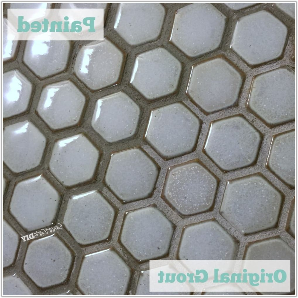 White Mosaic Tile Black Grout