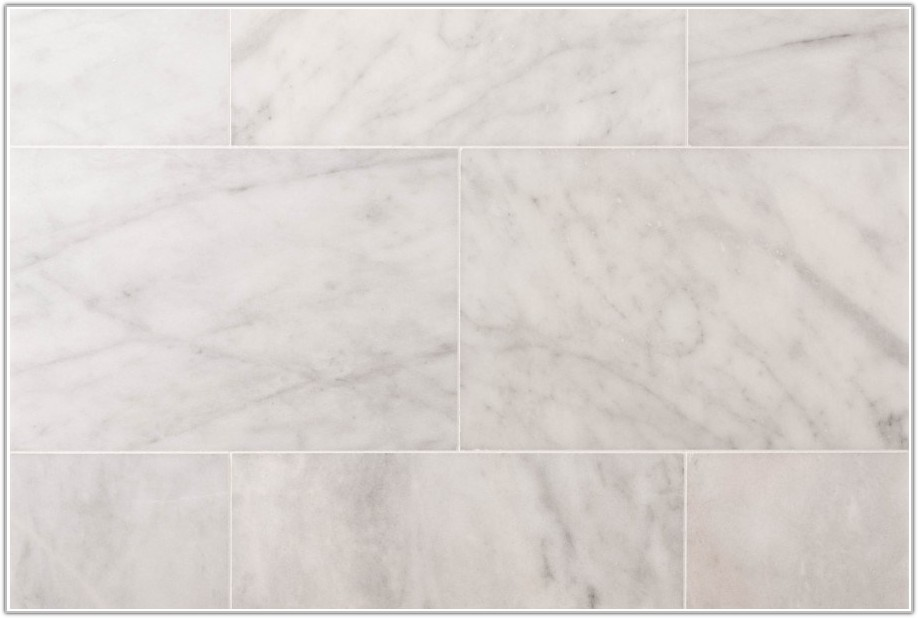 White Polished Marble Floor Tiles
