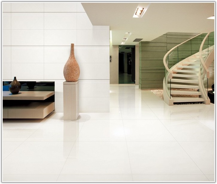 White Polished Porcelain Floor Tiles
