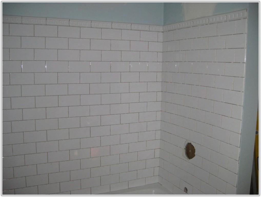 White Subway Tile Tub Surround Ideas