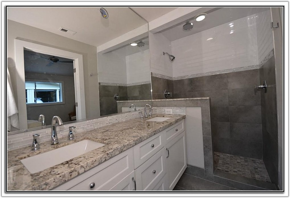 White Subway Tile With Marble Accents