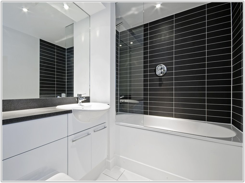 White Tile Effect Bathroom Wall Panels