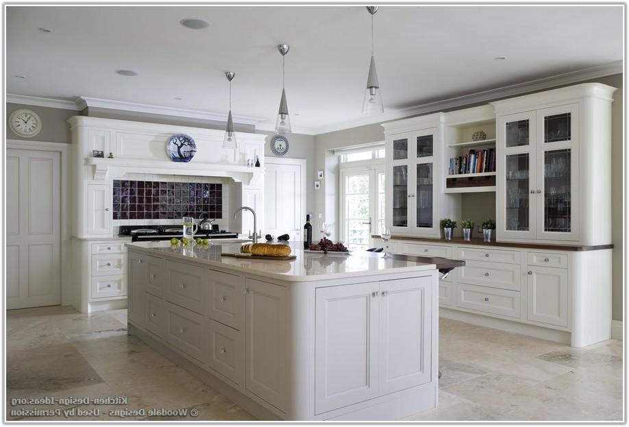 White Tile Floor Kitchen Ideas