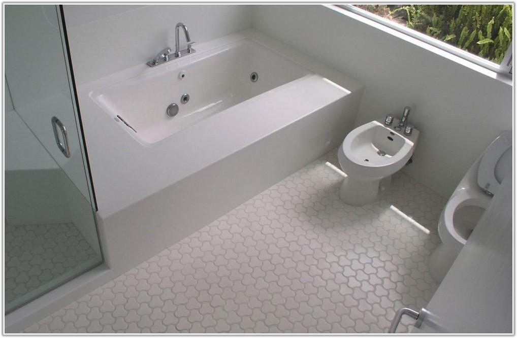 White Tile For Bathroom Floor