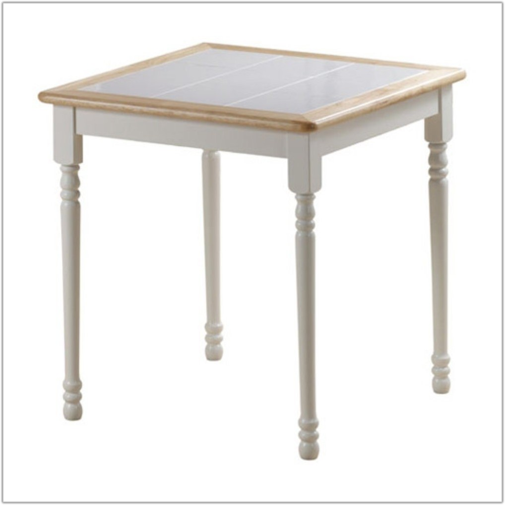 White Tile Top Dining Table