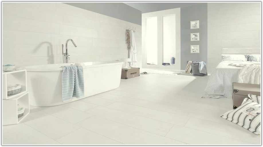 White Wood Effect Floor Tiles